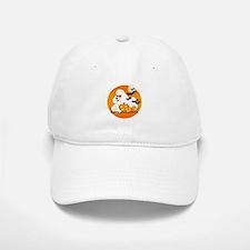 White Poodle Baseball Baseball Cap
