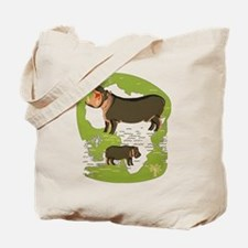 African Hippo Tote Bag