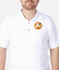 White Poodle Golf Shirt