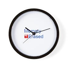 Unique Erase Wall Clock