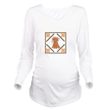 WHEAT STALKS QUILT SQUARE Long Sleeve Maternity T-