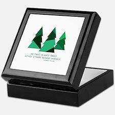 he that plants trees Keepsake Box