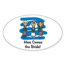 Here Comes the Bride Oval Decal