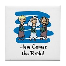 Here Comes the Bride Tile Coaster