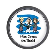 Here Comes the Bride Wall Clock