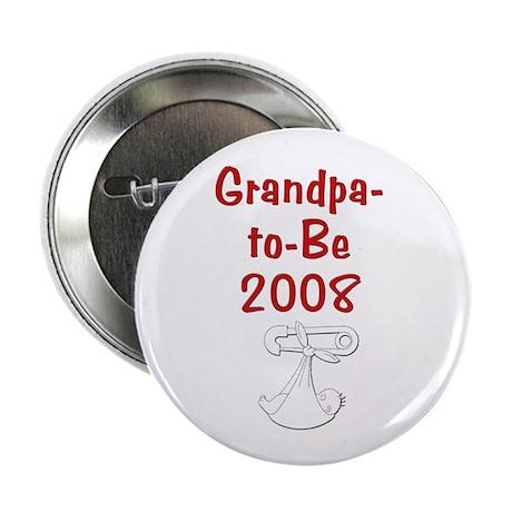 """Grandpa-to-Be 2008 2.25"""" Button"""