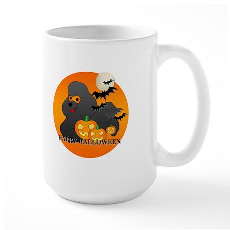 Black Poodle Large Mug