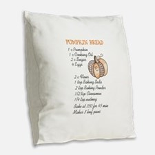 PUMPKIN BREAD RECIPE Burlap Throw Pillow