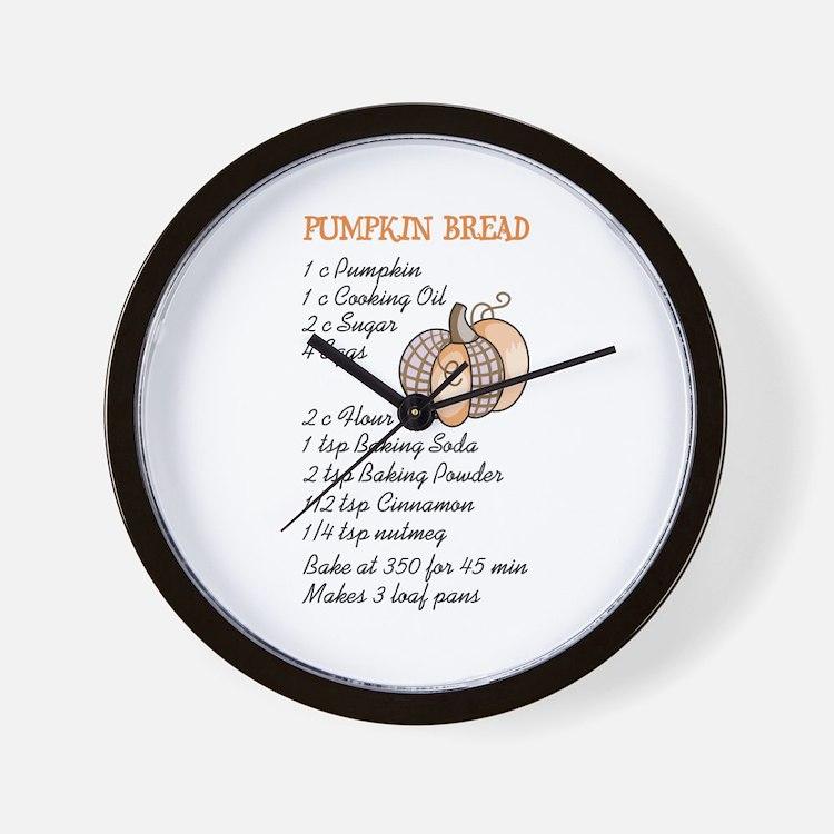 PUMPKIN BREAD RECIPE Wall Clock