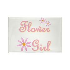 Flower Girl Rectangle Magnet