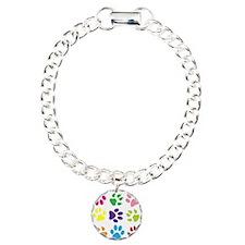 Colorful Paw Prints Bracelet