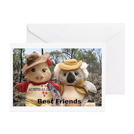 Australian Pig blank greeting cards