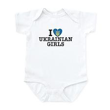 I Love Ukrainian Girls Infant Bodysuit