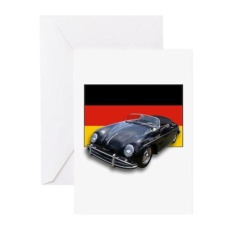 Speedster w/German Flag Greeting Cards (Package of