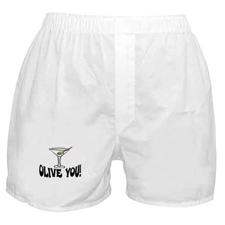 """OLIVE YOU"" MARTINI Boxer Shorts"