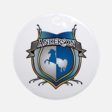 Anderson Coat of Arms Name Ornament (Round)
