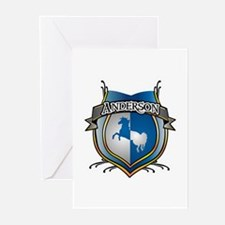 Anderson Coat of Arms Name Greeting Cards (Package