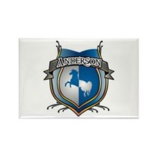Anderson Coat of Arms Name Rectangle Magnet