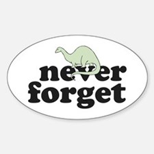 Resden dinosaur Oval Decal