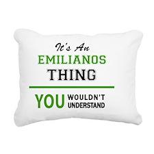 Unique Emiliano Rectangular Canvas Pillow