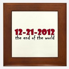 12-21-2012 End of the World Framed Tile