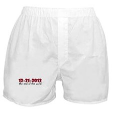 12-21-2012 End of the World Boxer Shorts