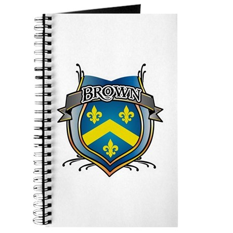 Brown Coat of Arms Name Journal