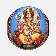 Ganesh / Ganesha Indian Elephant Ornament (Round)