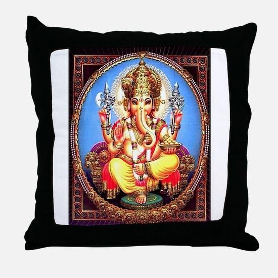 Ganesh / Ganesha Indian Elephant Hind Throw Pillow