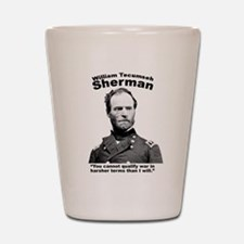 Sherman: War Shot Glass