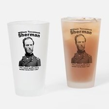 Sherman: War Drinking Glass