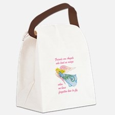 FRIENDS ARE ANGELS Canvas Lunch Bag