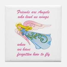 FRIENDS ARE ANGELS Tile Coaster