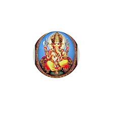 Ganesh / Ganesha Indian Elephant Hindu Mini Button