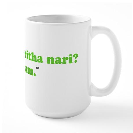 are you what i think u are? Large Mug