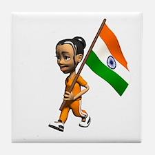India Girl Tile Coaster
