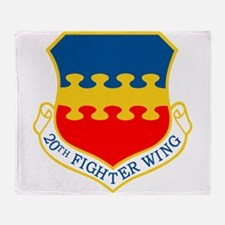 20th Fighter Wing.png Throw Blanket