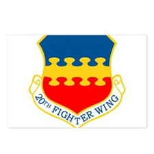 20th Fighter Wing.png Postcards (Package of 8)