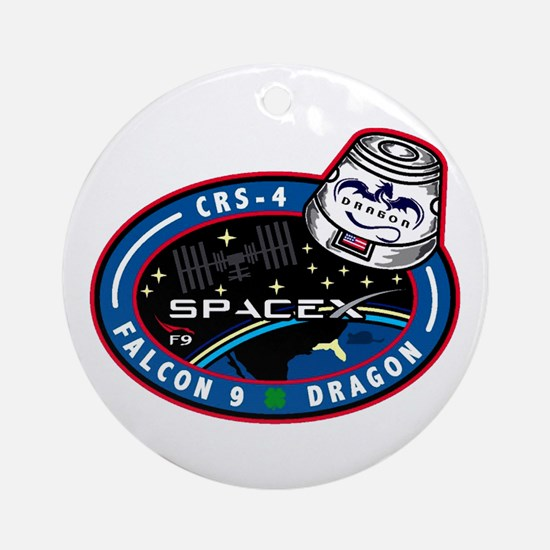 CRS-4 Logo Round Ornament