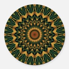 Nature's Mandala Round Car Magnet