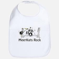 Meerkats Rock Bib