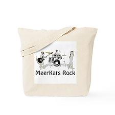 Meerkats Rock Tote Bag