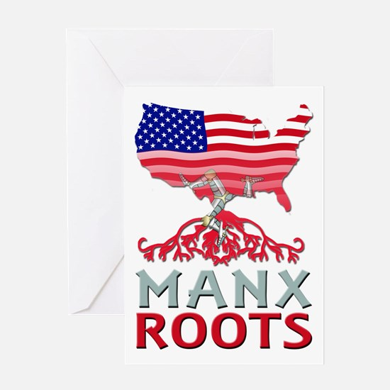Manx American Roots Greeting Cards