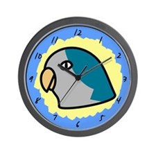 Anime Blue Quaker Parrot Clock