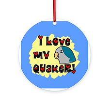 Anime Blue Quaker Ornament (Round)