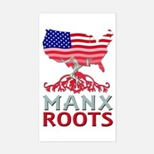 Manx American Roots Decal