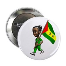 Sao Tome and Principe Girl Button
