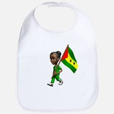 Sao Tome and Principe Girl Bib