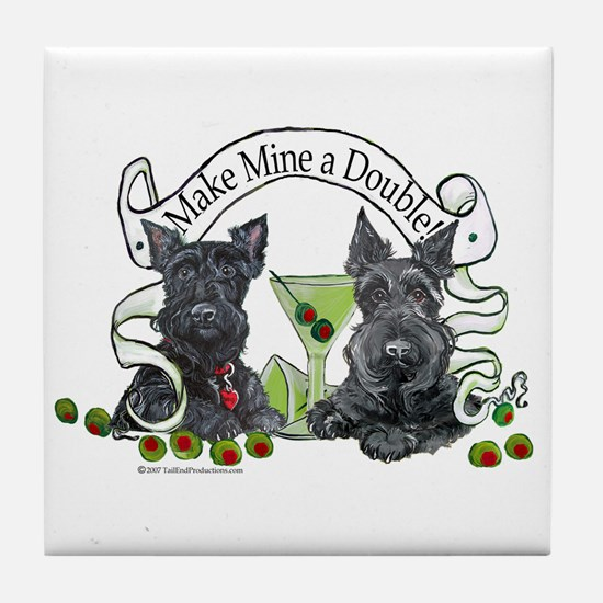 Scottish Terrier Double Tile Coaster