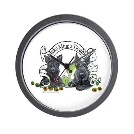 Scottish Terrier Double Wall Clock